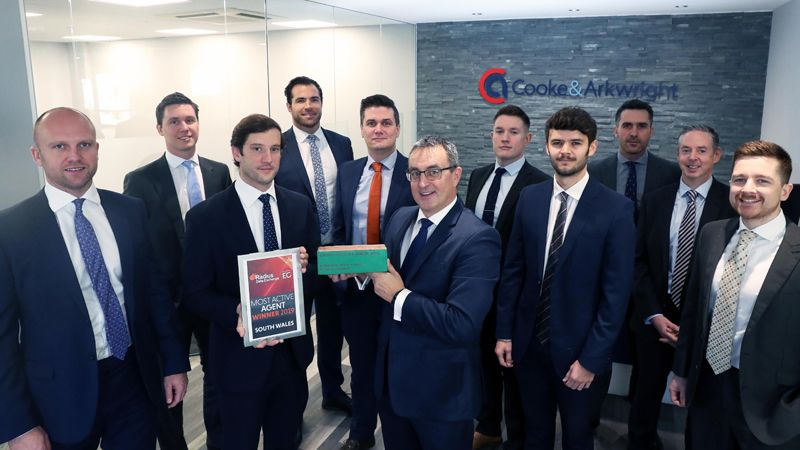 Cooke & Arkwright Most Active Agent in South Wales 2019