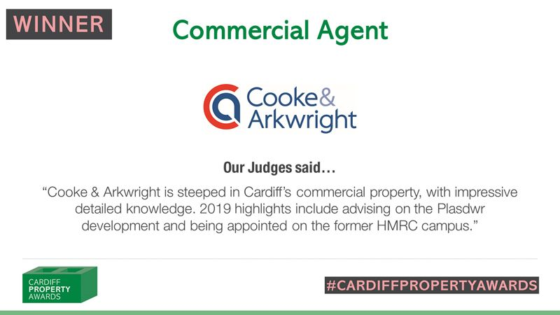 Cooke & Arkwright Commercial Agent of the Year 2019