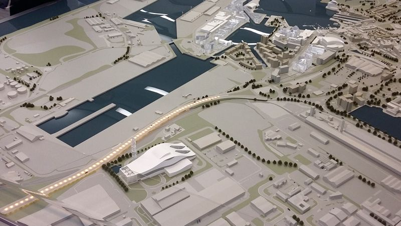 Model of Eastern Bay Link Road