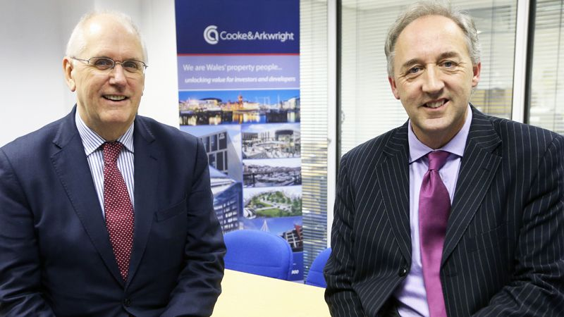 Michael Lawley, left, Chairman of Cooke & Arkwright, with Managing Director Andrew Gardner