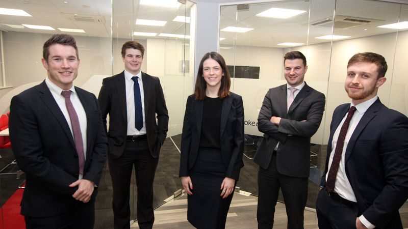 Rhys Price, Gabriel Davies, Caryl Howell, Dominic Garner and Thomas Rees of Cooke & Arkwright