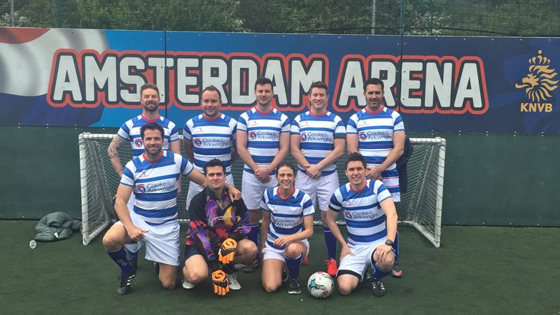 Telereal Trillium 5 a side football Cooke & Arkwright team