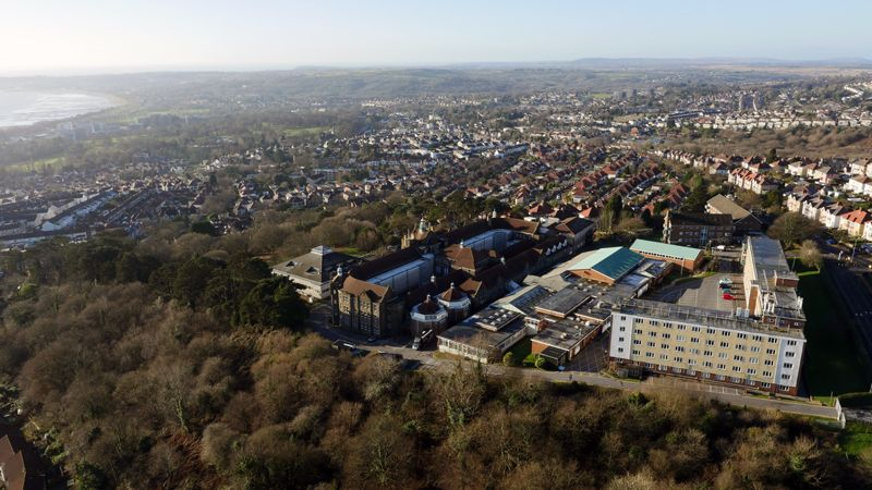 Townhill Campus aerial view, Uplands, Swansea, Cooke & Arkwright